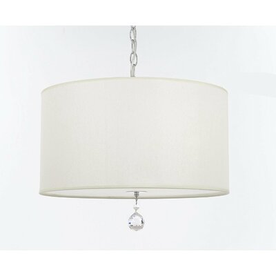 Becket Fabric 3-Light Drum Chandelier