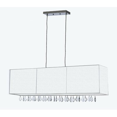Eile Crystal 5-Light Kitchen Island Pendant Shade Color: White, Crystal Color: Gray
