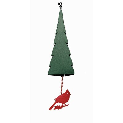 Wilderness Pointed Fir of the North Wind Bell with Cardinal Windcatcher
