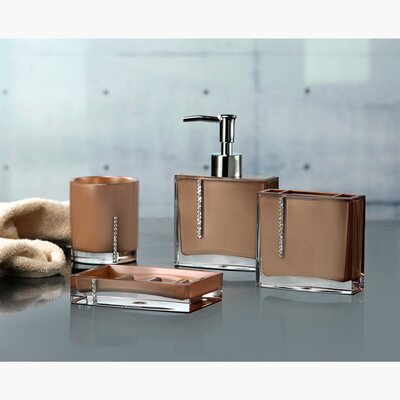 Brown bathroom accessories sets