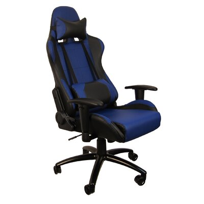Hi Back Style Racing Gaming Chair Color: Blue