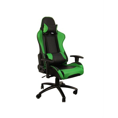 Hi Back Style Racing Gaming Chair Color: Green