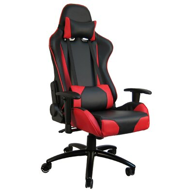 Hi Back Style Racing Gaming Chair Color: Red
