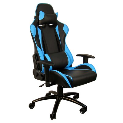 Hi Back Style Racing Gaming Chair Color: Sky blue