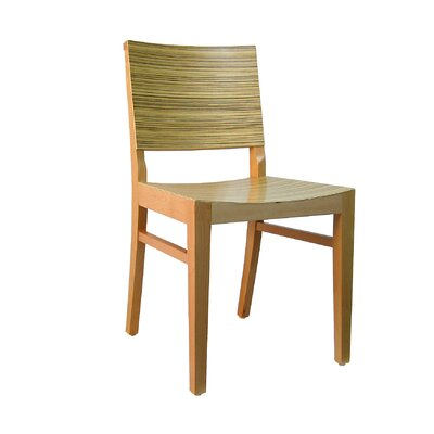 Maddison Side Chair (Set of 2) Color: Natural W/ Zebra Pattern