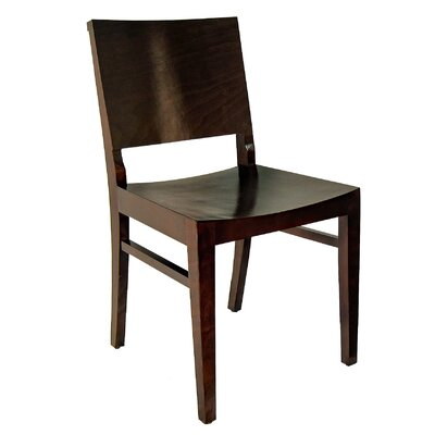 Maddison Side Chair (Set of 2) Color: Dark Walnut