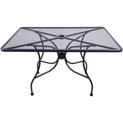 Mesh Dining Table Finish: Black
