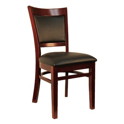 Sloan Upholstered Dining Chair Frame Finish: Dark Mahogany