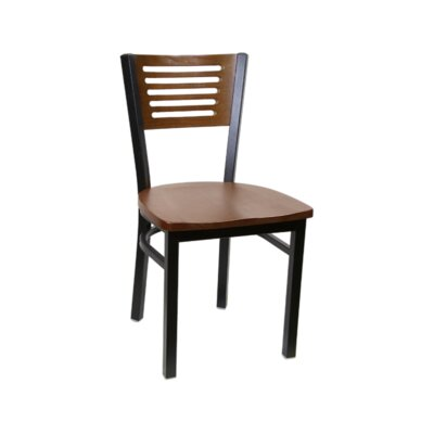 Solid Wood Dining Chair (Set of 2) Color: Walnut
