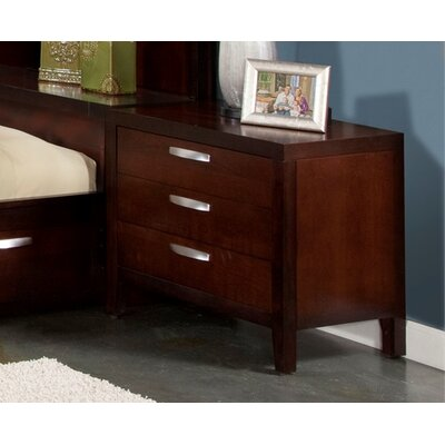 Vista 3 Drawer Nightstand