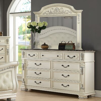 Alexandra 9 Drawer Dresser with Mirror