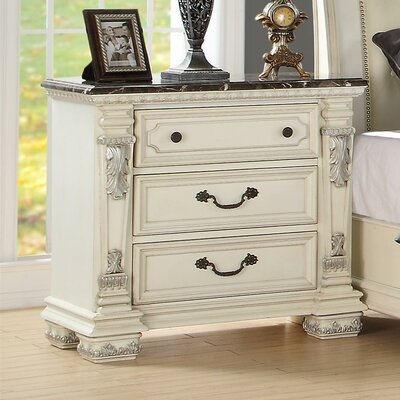 Alexandra 3 Drawer Nightstand