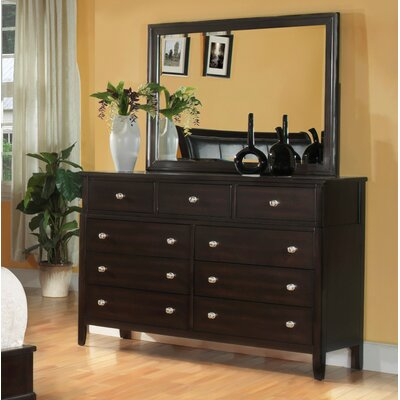 Newton 9 Drawer Dresser with Mirror