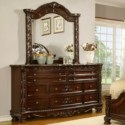 Patterson 10 Drawer Dresser with Mirror