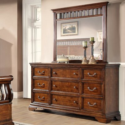 Waverly Place 9 Drawer Dresser with Mirror