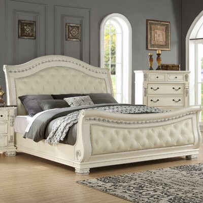 Alexandra Upholstered Sleigh Bed Size: Queen