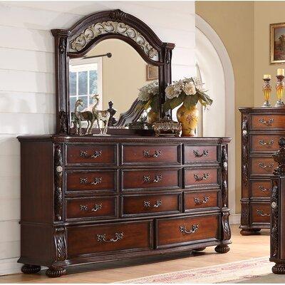 Verona 11 Drawer Dresser with Mirror