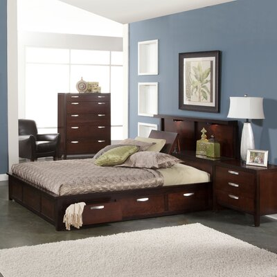 Vista Storage 2 Piece Bedroom Set Size: Queen