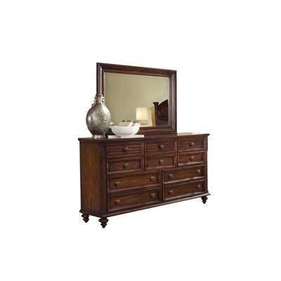 Compass Rose 10 Drawer Dresser with Mirror