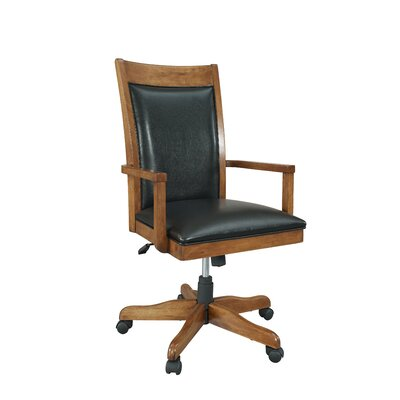 Companion Desk Chair Upholstery: Nutmeg Maple