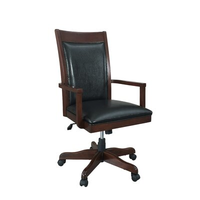 Companion Desk Chair Upholstery: Dark Cherry