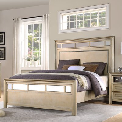 Champagne Panel Bed Size: King
