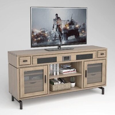 Blair 69 TV Stand Color: Weathered Vellum