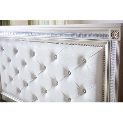 Tiffany Upholstered Panel Bed Size: Queen