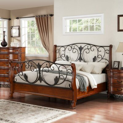 Tuscany Sleigh Bed Size: King