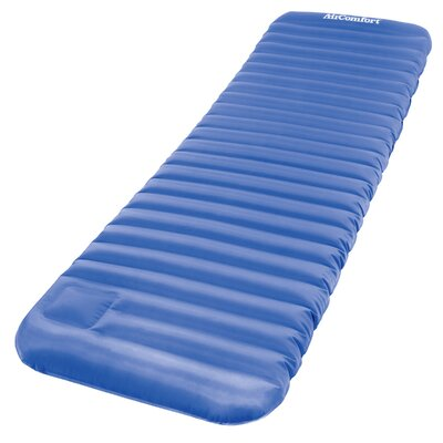 Roll and Go Inflatable Sleeping Pad 4 Air Mattress Color: Blue