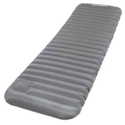 Roll and Go Inflatable Sleeping Pad 4 Air Mattress Color: Gray