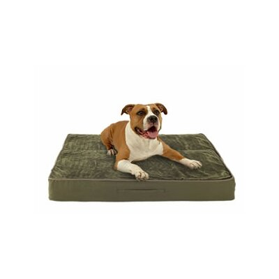 Eco-Friendly Dog Bed with Lux Fleece Cover Size: Extra Large (40 L x 33 W)