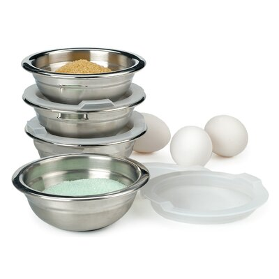 Endurance� 4 Stainless Steel Mixing Bowls with Lids PREP-8