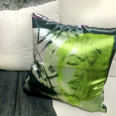 Eletaion Throw Pillow Color: Green