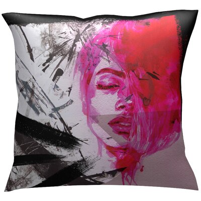Eletaion Throw Pillow Color: Red/Pink