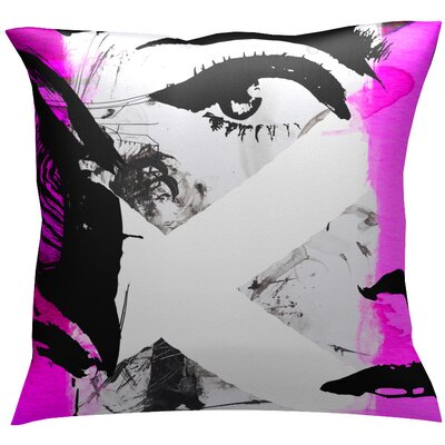 Intrigue Throw Pillow Color: Pink