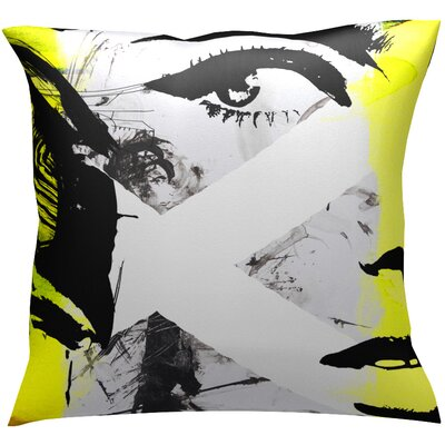 Intrigue Throw Pillow Color: Yellow