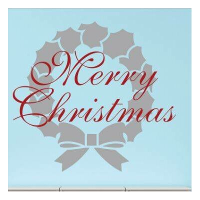 """Merry Christmas Wall Decal Size: 20"""" H x 20"""" W x 0.16"""" D"""