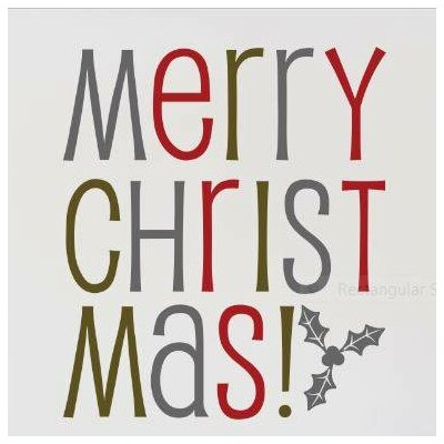 """Merry Christmas Wall Decal Size: 16"""" H x 20"""" W x 0.16"""" D"""