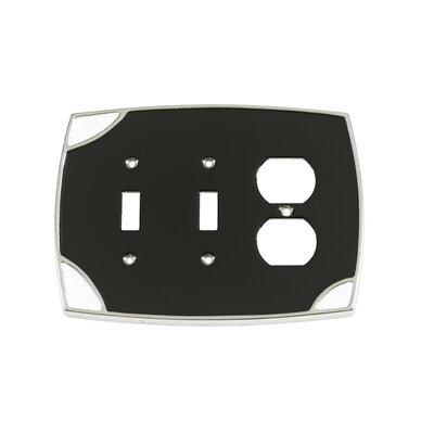 Lumino Double Toggle/Duplex Receptacle Switch Plate Finish: Black/White