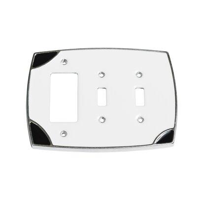Lumino Double Toggle/Single Rocker Switch Plate Finish: White/Black