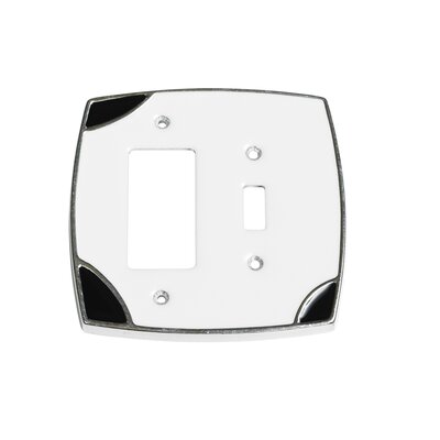 Lumino Single Toggle/Rocker Switch Plate Finish: White/Black