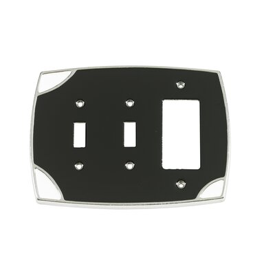 Lumino Double Toggle/Single Rocker Switch Plate Finish: Black/White