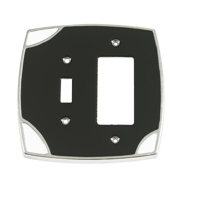 Lumino Single Toggle/Rocker Switch Plate Finish: Black/White