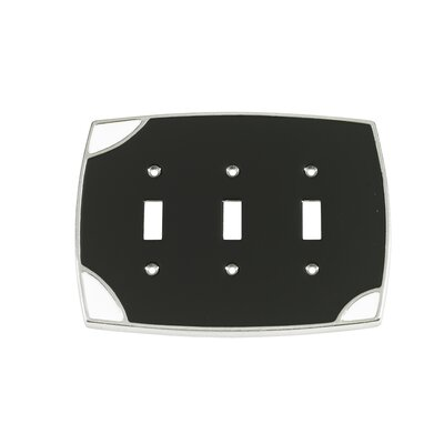Lumino Triple Toggle Switch Plate Finish: Black/White