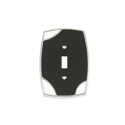 Lumino Single Toggle Switch Plate Finish: Black/White