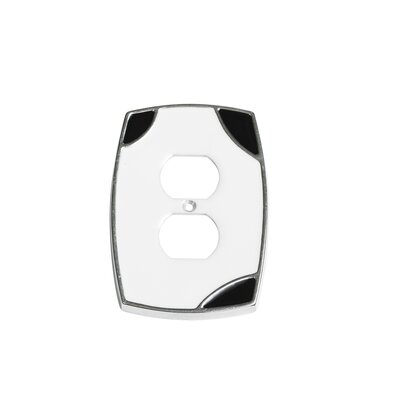 Lumino Duplex Receptacle Switch Plate Finish: White/Black