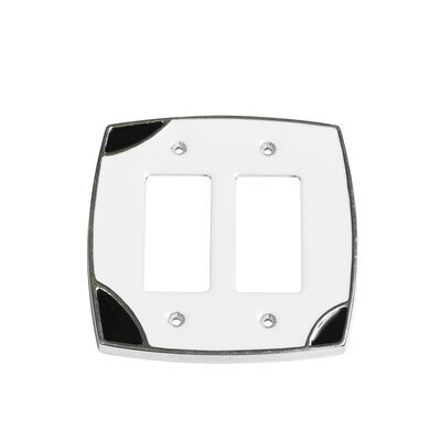 Lumino Double Rocker Switch Plate Finish: White/Black