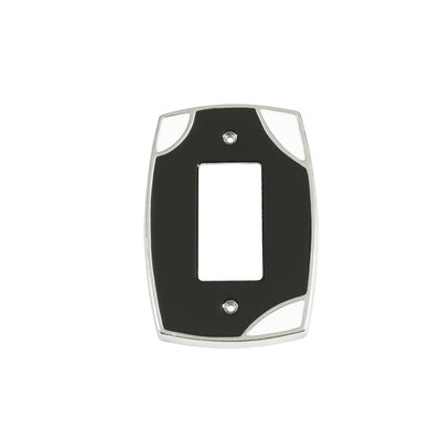 Lumino Single Rocker Switch Plate Finish: Black/White