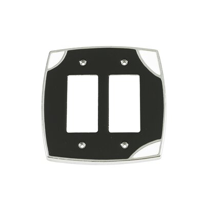 Lumino Double Rocker Switch Plate Finish: Black/White
